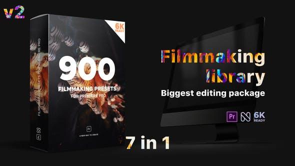 Pr模板预设-900种文字标题转场片头调色视觉特效包 Premiere Effects Pack v2+使用教程插图