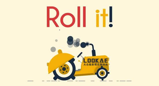 AE脚本-有趣滚动MG动画制作 Roll it! v1.1+使用教程插图