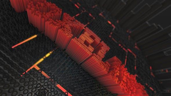AE模板-三维立体像素插针LOGO标志演绎片头Text Reveal Opening插图