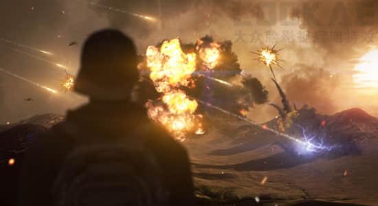 视频素材-184个爆炸坍塌火焰烟雾流星闪电电流特效合成视频素材  有透明通道插图