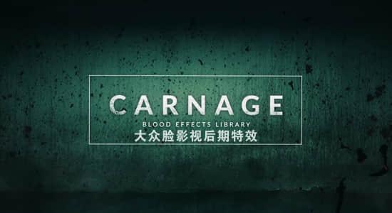 视频素材-296个实拍滴血血液喷溅血迹绿幕特效合成4K视频素材Carnage 免费下载插图