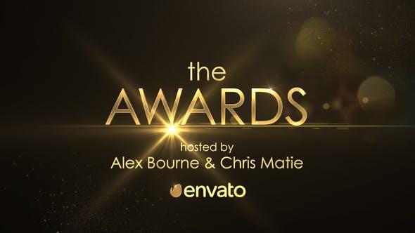 AE模板-金色粒子闪耀年会活动颁奖典礼片头 Golden Shine Awards Promo插图