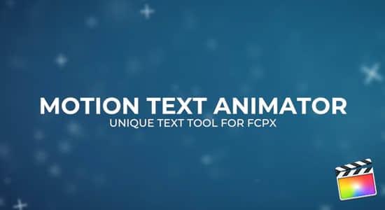FCPX插件-6组抖动变化文字标题动画 Motion Text Animator插图