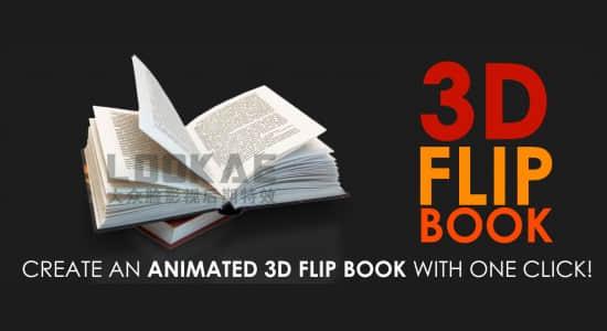 AE脚本-三维书本滚动翻页动画效果 3D Flip Book v1.41插图