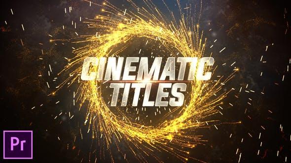 Premiere预设-震撼火星粒子飞溅文字标题影视片头 Cinematic Trailer Titles插图
