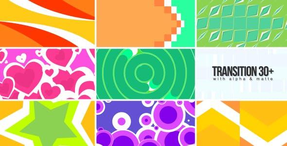 视频素材-39个彩色图形遮罩蒙板转场动画视频素材