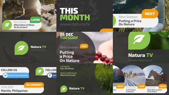 AE模板-大自然小清晰电视节目预告导视栏目包装 Natura TV插图