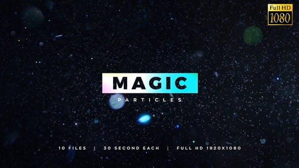 视频素材-10组漂亮精美魔法粒子光斑特效动画视频素材 Magic Particles 10 Items Pack插图