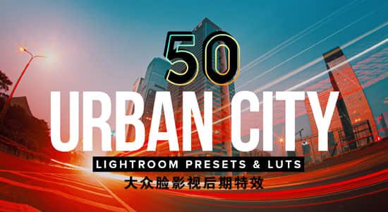 50种夜晚城市夜景LUTS调色预设(FCPX/PR/PS/AE/达芬奇/OFX/LR)50 Urban City Lightroom Presets LUTs插图