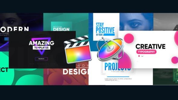 FCPX插件-10种创意排版图形文字标题动画 Creative Typography Pack插图