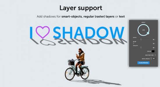 PS插件-逼真投影拖尾阴影插件 Photoshop Extension – Shadow v1.0.3 Win/Mac + 使用教程插图