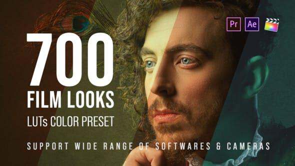 700个电影级LUT调色预设工具包 LUT Color Preset Pack