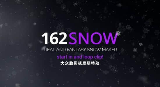 视频素材-162个真实下雪冬季雪花飘落叠加视频素材 Snow插图