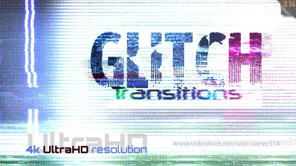 4K视频素材-27个信号故障干扰毛刺失真转场动画素材 Glitch Transitions插图