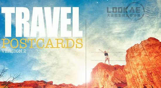 AE模板-旅行游记vlgo日常照片相册明信片风格展示 Travel Postcard v2插图