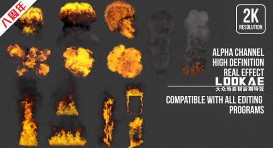 视频素材-14个火焰燃烧爆炸浓烟特效合成2K透明通道素材 Action Pack插图