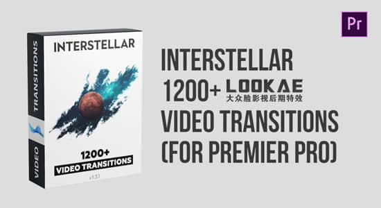 Premiere模板-1200种缩放扭曲移动旋转故障切割RGB色彩分离拉伸翻转视频转场 Interstellar 1200+ Video Transitions插图