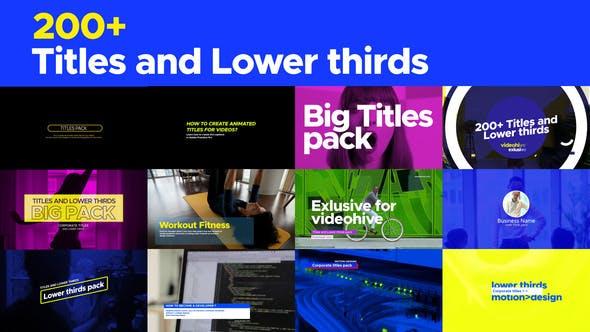 AE模板-200种现代文字标题字幕条排版动画 Titles and Lower thirds pack插图