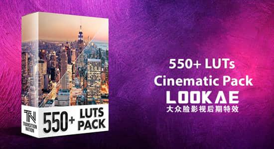 550个室内户外照明环境城市黑白复古婚礼电影LUTS调色预设 550+ LUTs – Cinematic Pack插图