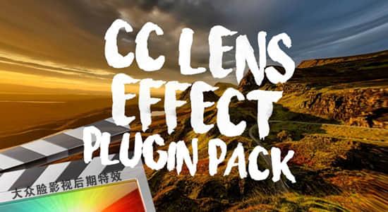 FCPX插件-11种CC镜头广角失真变形特效 CC Lens Effect插图