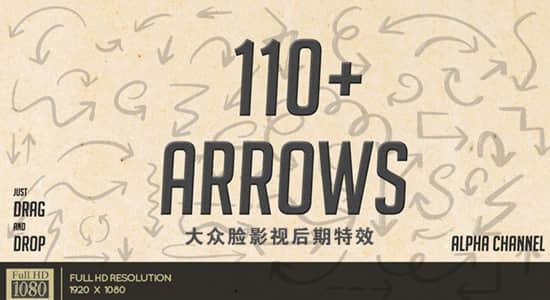 视频素材-115个手绘标注提示箭头图形动画 Arrow Pack 有透明通道插图