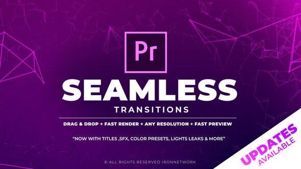 PR模板-700个超酷缩放平移图形转场文字标题调色音效炫光素材预设 Seamless Transitions插图