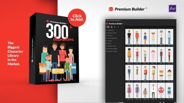 AE脚本-300种多职业二维卡通人物角色动画预置 PremiumBuilder Characters插图