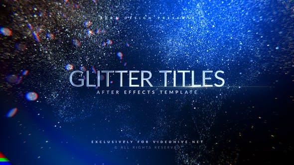 AE模板-华丽优雅粒子闪耀图文标题展示开场片头 Awards Titles Glitter插图