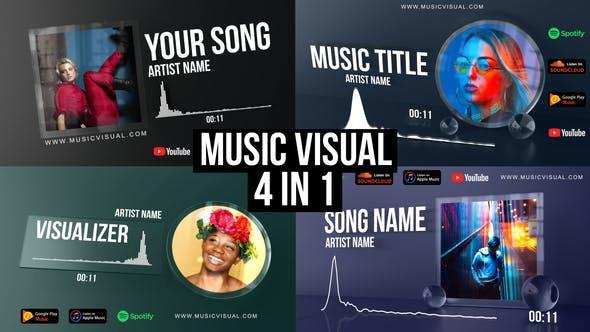 AE模板-音频可视化场景特效动画 Glass Audio React Music Visualizer插图