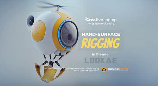 Blender教程-三维机器人绑定动画制作 Blender Market – Hard Surface Rigging In Blender