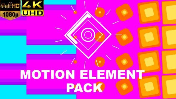 4K视频素材-100个现代时尚流行MG图形动画素材包 Motion Elements插图