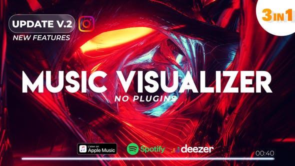 AE模板-音频可视化LOGO视觉效果 Music Visualizer Spectrum