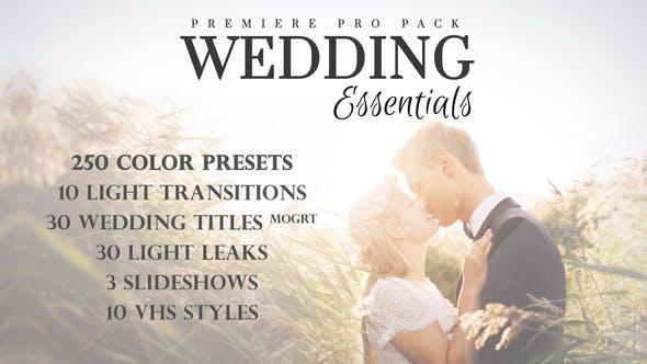 PR模板-333个浪漫婚礼调色相册照片文字标题视觉特效项目动画展示预设包 Wedding Essentials Pack for Premiere Pro插图