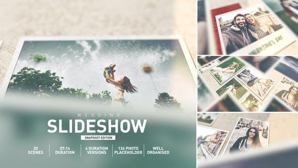 AE模板-浪漫情人节甜蜜爱情照片电子相册图片展示 Wedding Memories Album Slideshow插图