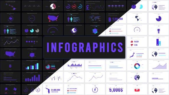 PR模板/AE模板-127种彩色优雅公司企业商务信息图表动画 Infographics插图
