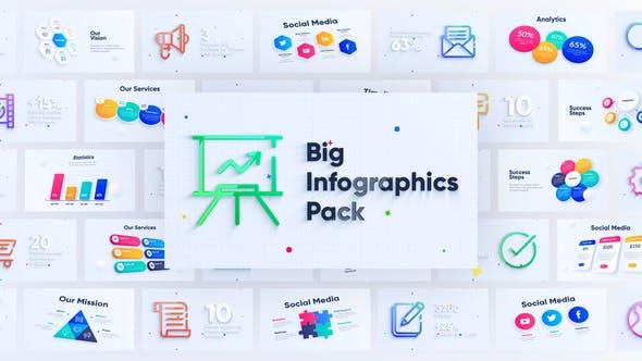 AE模板-90种彩色质感企业商务信息图表动画元素包 Corporate Infographics Charts Pack插图