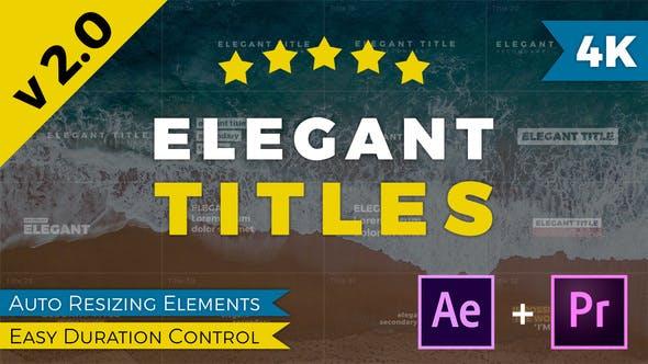PR模板/AE模板-50种现代优雅文字标题动画 Elegant Titles V2插图