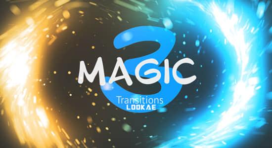 第三套 PR模板-25个唯美漂亮魔法粒子转场过渡预设 Magic Transitions 3插图