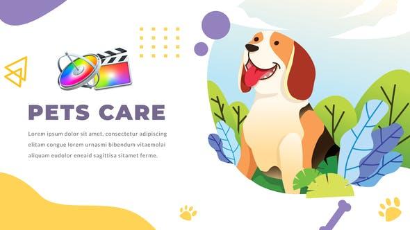 FCPX插件-12组可爱卡通医生宠物护理医疗图形文字动画介绍展示 Pets Care and Veterinarian插图