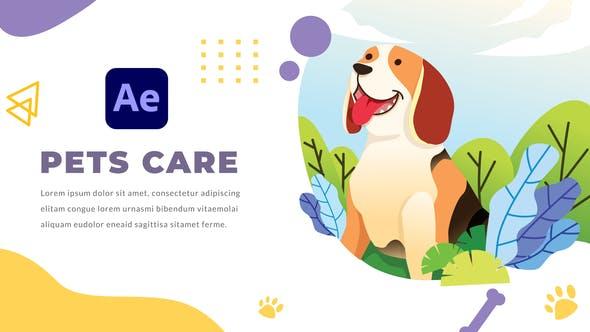 AE模板-可爱卡通医生宠物护理医疗图形动画介绍展示 Pets Care and Veterinarian插图