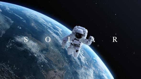 AE模板-浩瀚大气宇宙太空三维地球行星标题展示片头 Solar插图