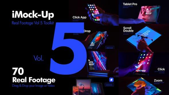 第1/2/3/4/5季-AE模板-手机平板真实手势触摸屏幕合成动画效果 iMock-Up Real Footage Vol 5 Toolkit