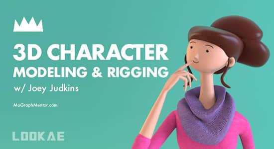 C4D教程-三维卡通人物角色建模绑定动画制作 MoGraph Mentor – 3d Character Modeling & Rigging插图