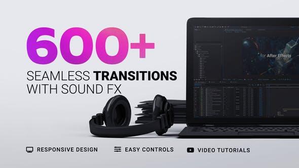 AE模板-600种摄像机移动故障干扰图形分割擦除水墨光效视频无缝转场预设(含音效) Transitions插图