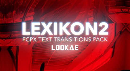 FCPX插件-第2季 20种故障摇滚文字标题包装转场过渡 Lexikon V2插图