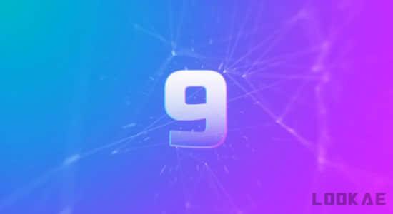 视频素材-优雅漂亮10秒倒计时动画片头动画 Elegant Plexus Countdown插图