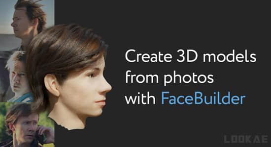 Blender插件-从图片制作面部头部3D建模 KeenyTools FaceBuilder v2.1.1