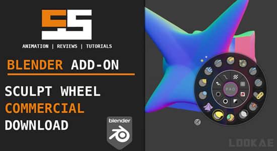 Blender插件-雕刻转盘快捷操作小工具面板 Sculpt Wheel v0.5插图