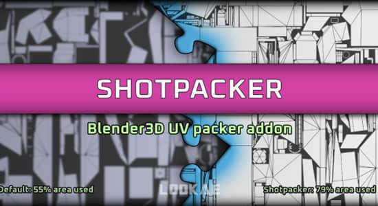 Blender插件-三维模型展UV贴图打包工具 Shotpacker v2.0.18插图