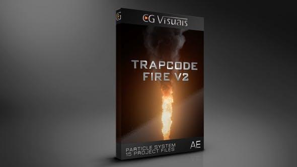 AE模板-使用Particular插件制作模拟15种火焰燃烧动画特效库 Trapcode Fire V2.3